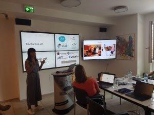 Ana Luísa Jegundo giving a talk in Graz