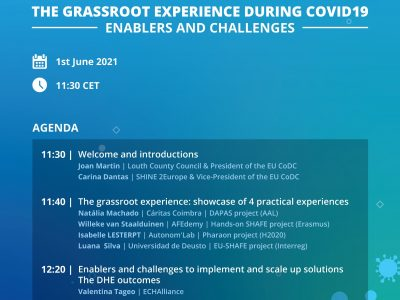 Experiences during COVID-19 from DAPAS presented at Grassroot Experience Event